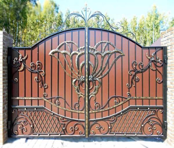 Ворота № в 137 (Чайная роза)