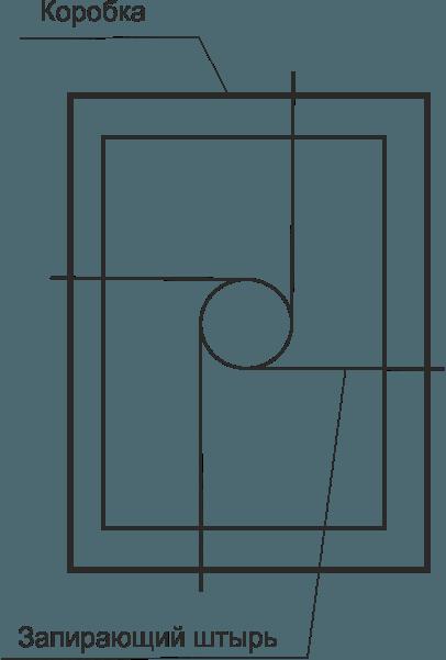 Крабовый-запор для двери