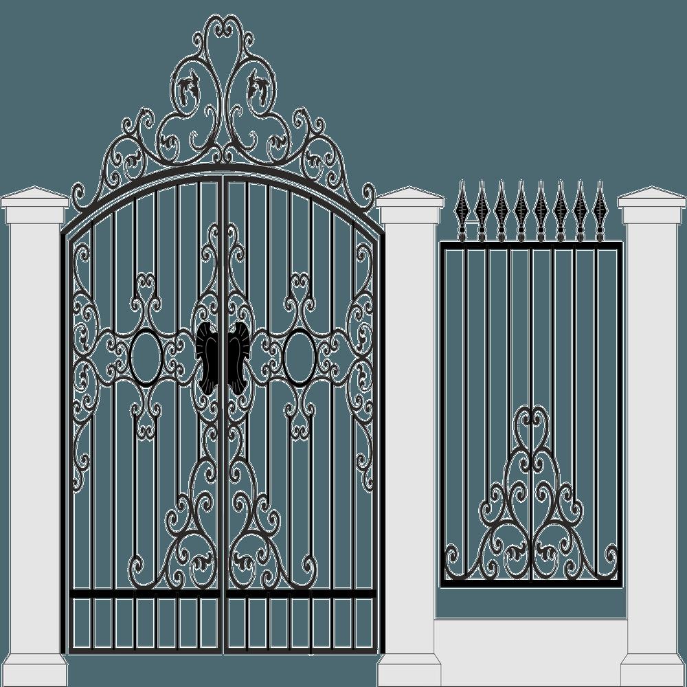 Ворота-с-забором