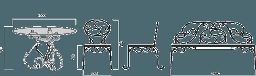 Кованая-мебель-вектор
