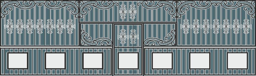 Ограда-кованая-с-дверью