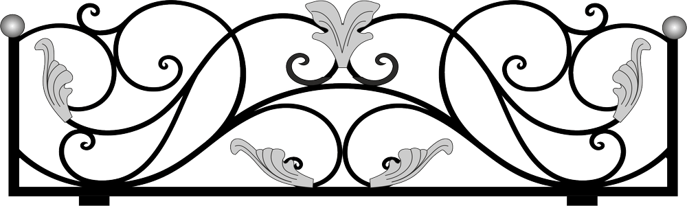 Фрагмент кованой ограды