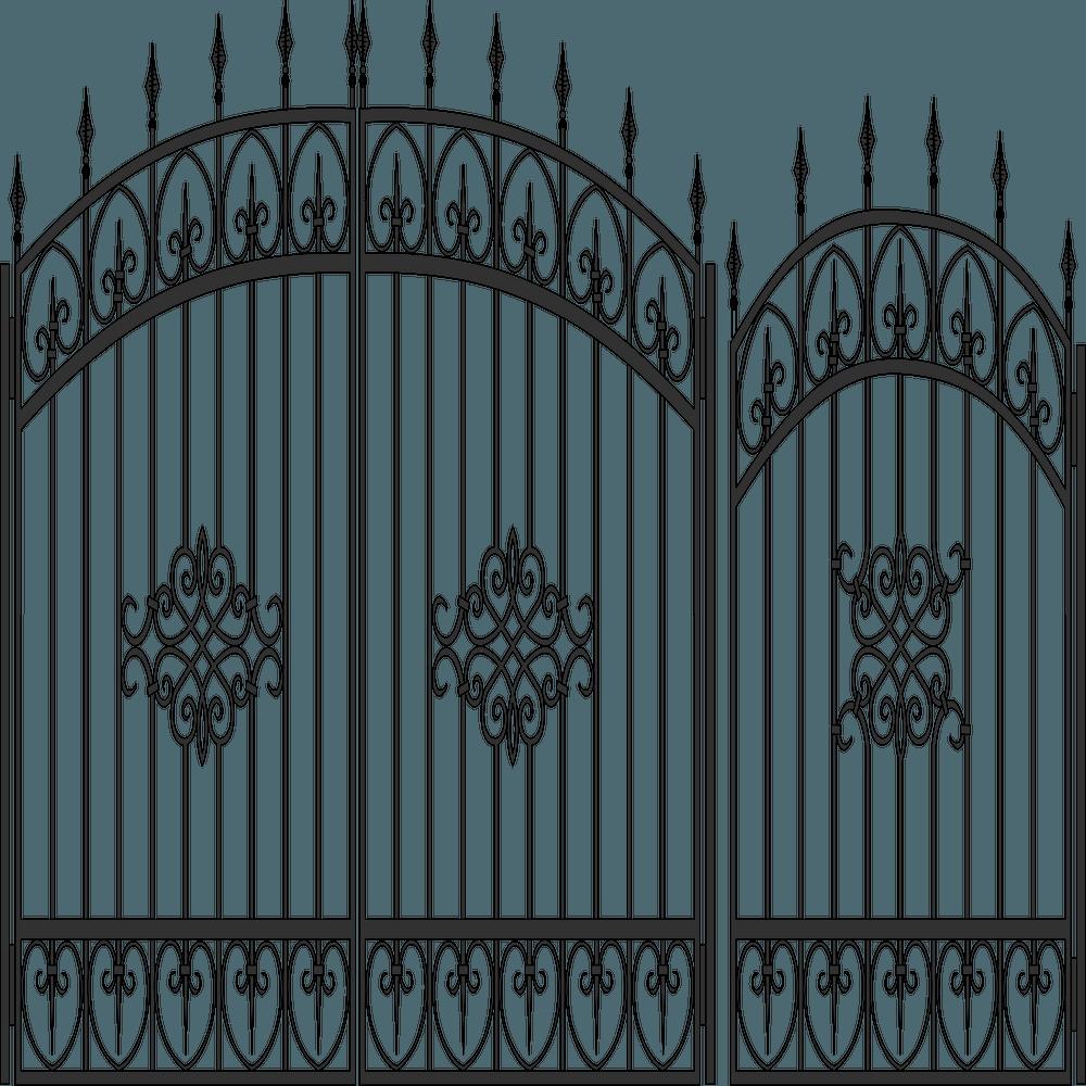ворота-с-калиткой-вектор0
